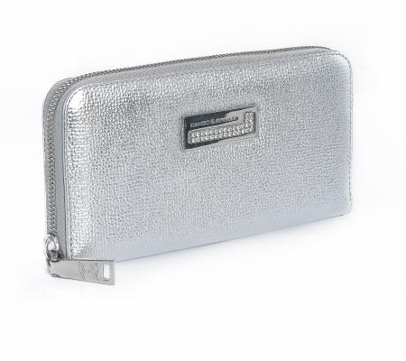 Cr Purse 075 Ezüst-ezüst Pénztárca