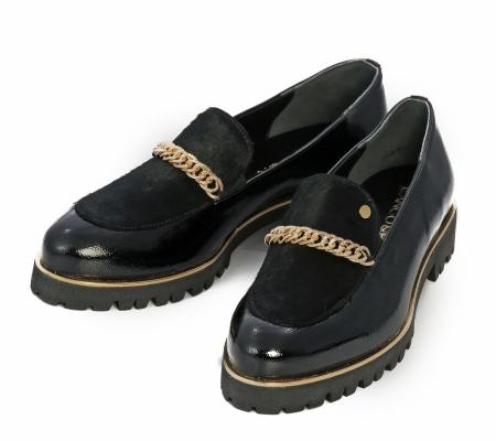 Cango&rinaldi Street 003 Fekete Lakk Cipő